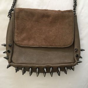 Cute Studded Taupe Purse